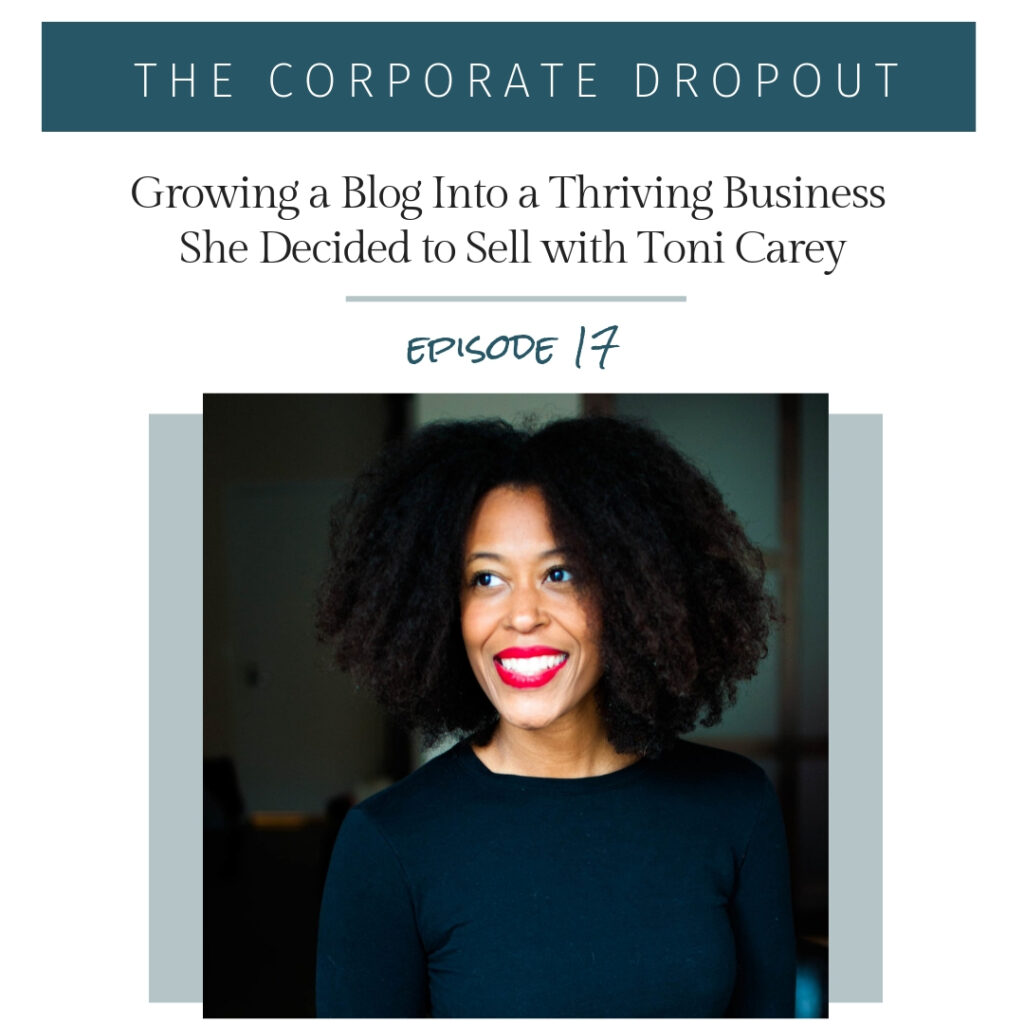 toni carey, black girls run, the corporate dropout podcast