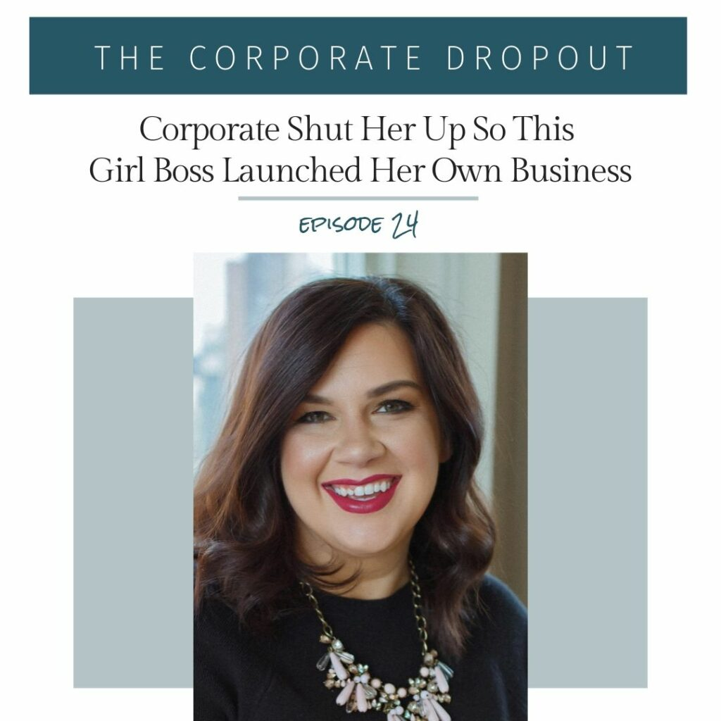 kendyl of louder experiences on the corporate dropout podcast