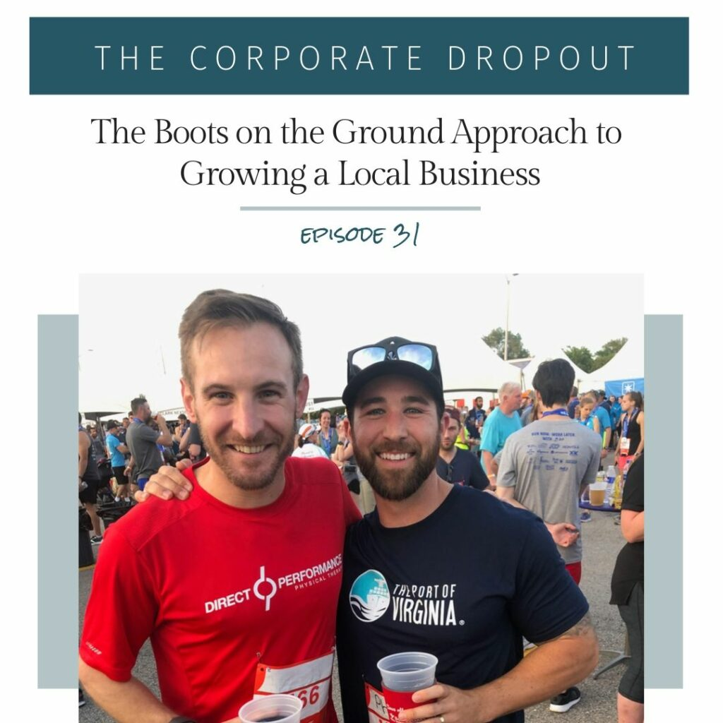 brian maher direct performance physical therapy the corporate dropout podcast