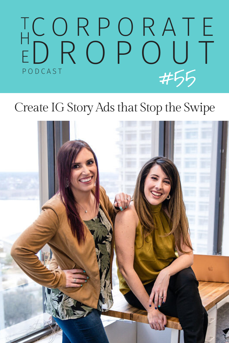 Rachael Seda and April Sciacchitano of Mix+Shine Marketing and The Corporate Dropout Podcast