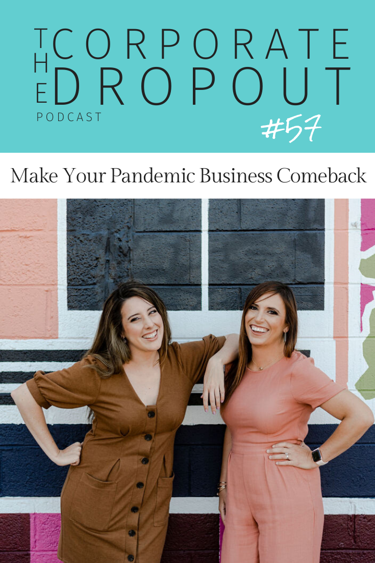 Rachael Seda and April Sciacchitano on how to reopen your business during a pandemic on the corporate dropout podcast