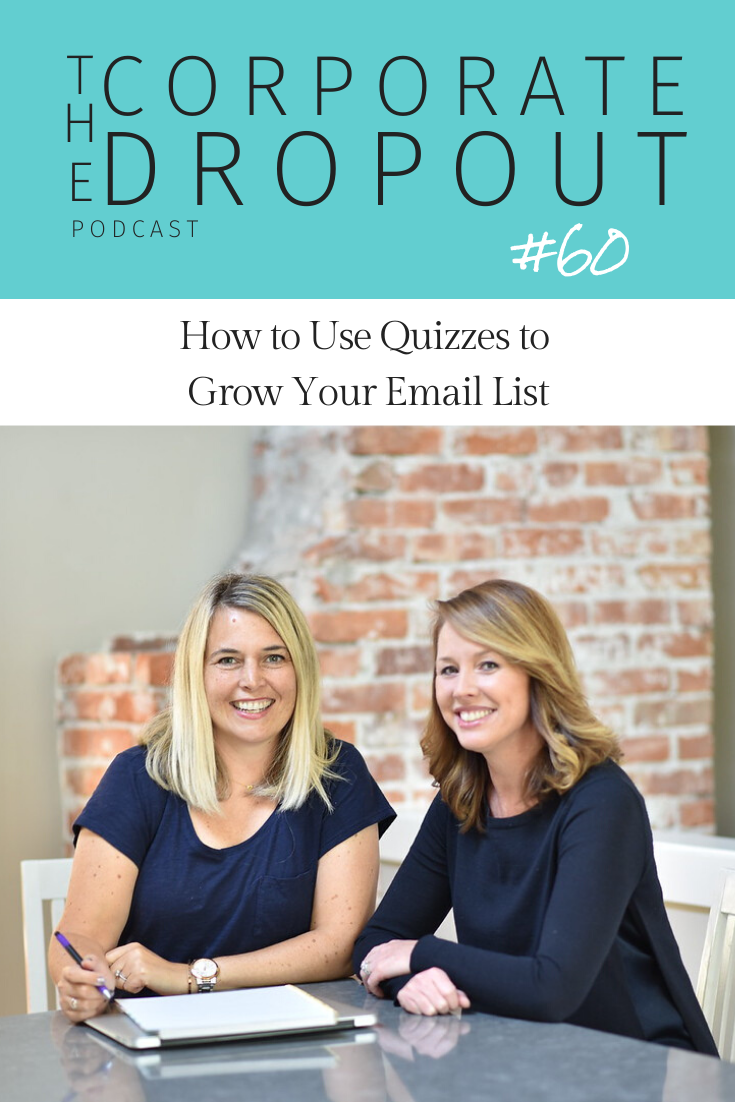 Linda Sidhu and Wendy Jensen talk about using quizzes to grow your email list on the corporate dropout podcast