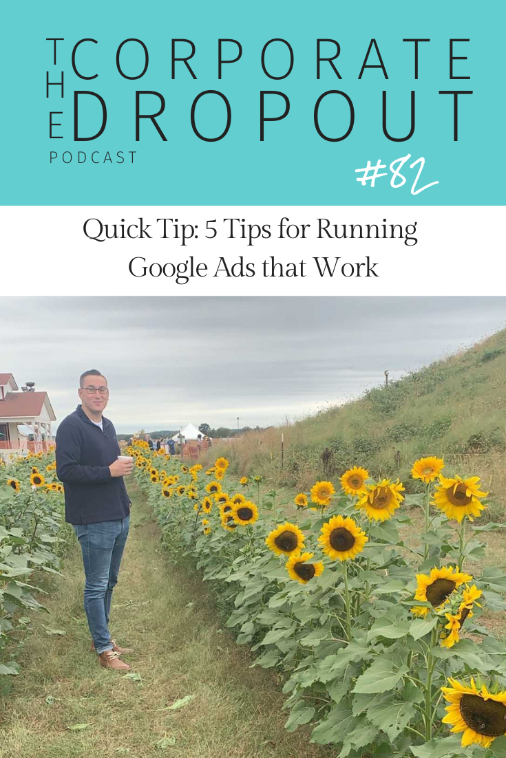 google ads tips with Chris Flook on the Corporate dropout podcast in hampton roads